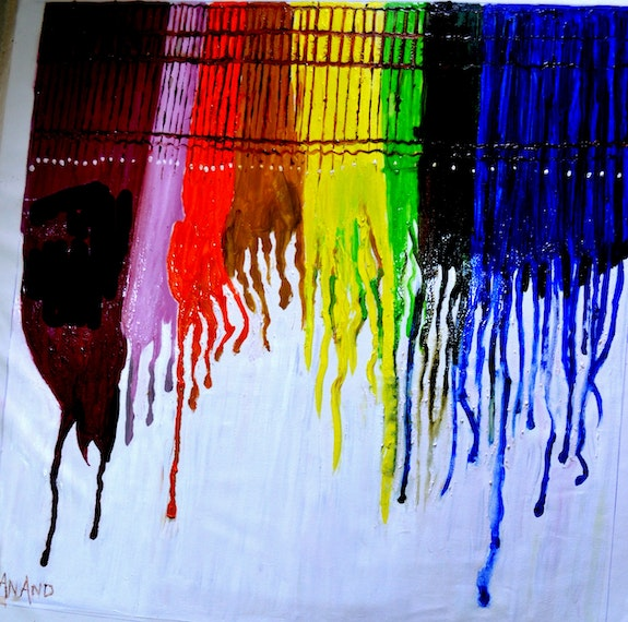 Abstract drip painting-2. Anand Anand Manchiraju