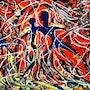 Abstract drip painting-4. Anand Manchiraju