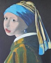 Das Mädchen mit dem Perlenohrring - Hommage an Vermeer.