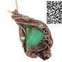 Australian Chrysoprase Wire-Wrapped Pendant in Copper with Labradorite. Heather Jordan Jewelry