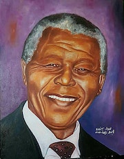 Large Oil Portrait, Mandela Original Portrait Painting, Wall Art. Donodio Arts & Crafts