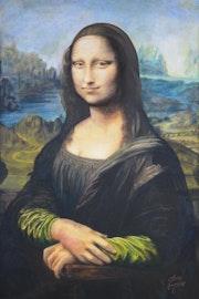 Peinture sur Toile - La Joconde_Mona Lisa - 1.20m X 0.80m.