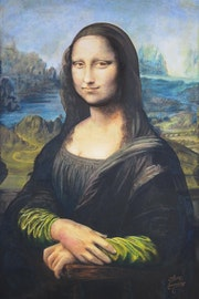 Peinture sur Toile - La Joconde_Mona Lisa - 1.20m X 0.80m. Olivier27430