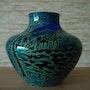 Glasziervase, Beyermann&Co. , Haida, um 1915.. Glaskunstgalerie Raphael