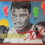 MuhammaDalí ~ boxing themed acrylic pop-art portrait on canvas. Norbert Szük