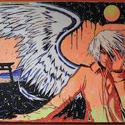 Passage Between Dimensions ~ Japanese manga themed acrylic painting on canvas. Norbert Szük