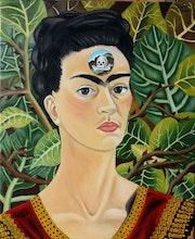 Reproduction de «Penser à la mort» de Frida Kahlo. Sophia Force