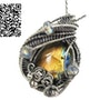 Labradorite Wire-Wrapped Pendant with Rainbow Moonstone in Sterling Silver. Heather Jordan Jewelry
