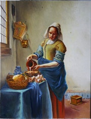 Reproduction The Milkmaid - Vermeer.