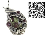 Dragon Blood Jasper Pendant with Almandine Garnet. Heather Jordan Jewelry