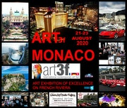 Exhibit in Art 3f Monaco 21-23 Août 2020. Queenartstudio Gallery