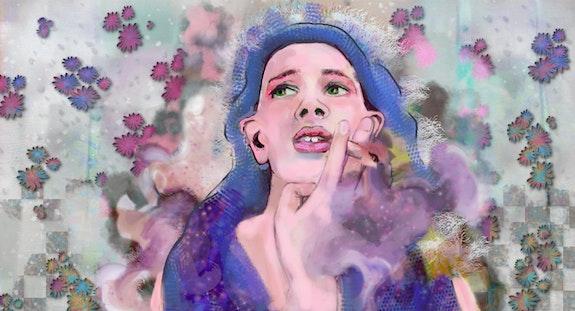 Dans la salle de bain avec mon pull sur la tête. Myriam Ferrero Paingt Ferrokaro