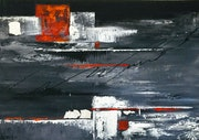 En rouge et noir. Galerie Arnaud