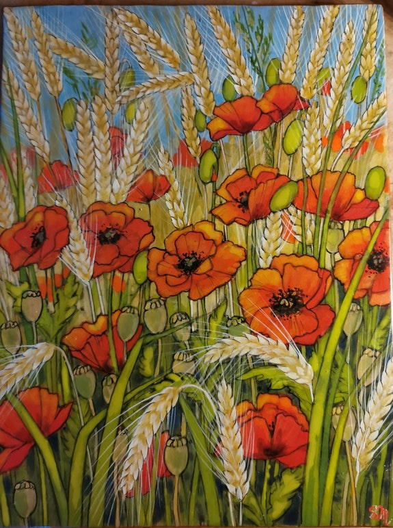 Coquelicots and co.  Sandrine Millet