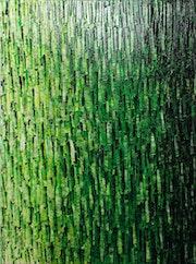 Abstrakte Malerei: Weißes Grün verblassen.. Jonathan Pradillon