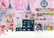 26-La Cocina. Dibujos.. Carmen Luna