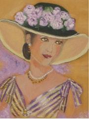 Femme au chapeau noir. Françoise Charvieux