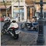 Con la moto por el Centro de Valencia. Enry Colomer