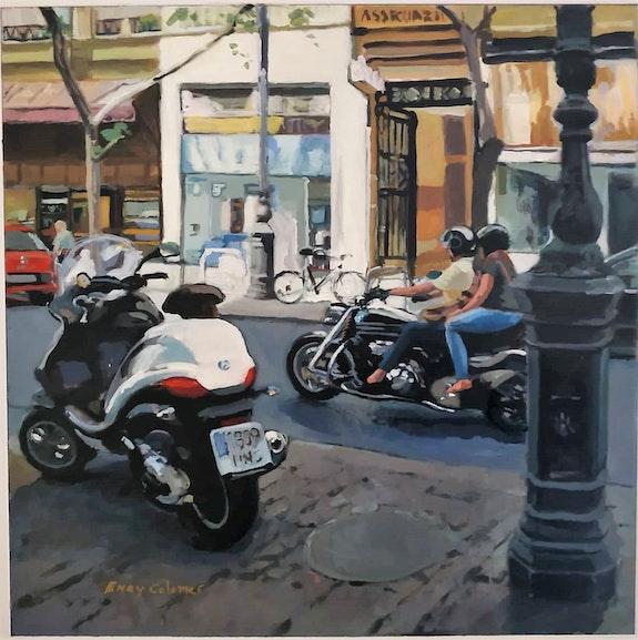 Con la moto por el Centro de Valencia. Enry Colomer Enry Colomer