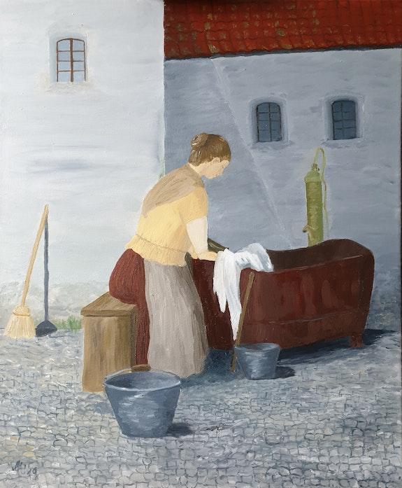 Die Wäscherin. Andrea Meklenburg Andrea Meklenburg - Saß