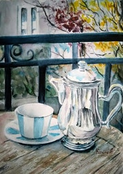 Coffee Please! - Still life sketch.