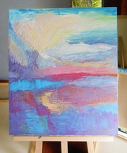 Big Abstract painting, Textured Painting, Sky & Sea, Nature, Acrylic On Canvas,.