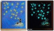 Star Elf, Glow in the dark, Original artwork, 100% Handmade Acrylic On Canvas Re. Lissy Gale
