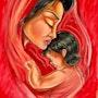 La mère et l'enfant, maman et bébé, inspiration orientaliste. Hasna Haïk
