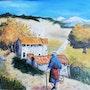 Retour à la maison après ramassage de champignons, en Provence. Salsera