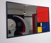 Miroir Mondrian Fibonacci. Francis Priscal