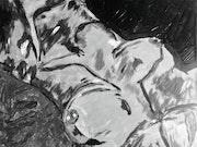 Pierced Nipples Under Grey. Eric Zerbe Studios
