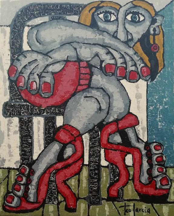 Tacones rojos. Francisco Garcia Verdugo Art-Foco