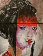 Geisha (détail).