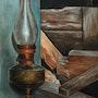 Une vieille lampe.