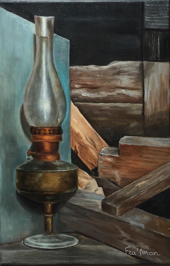 Une vieille lampe. France Mondello France Mondello