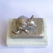Petit souris, acier inoxidable. Barake Sculptor