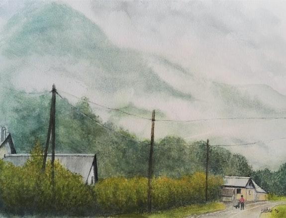 Sur la route de Campan. Michèle Truchot Mimi