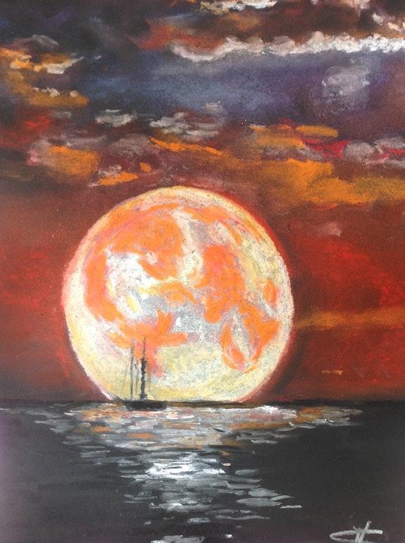 The moon. Christel Melin Christel
