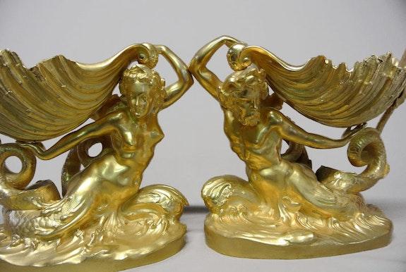 Néréïde et Triton. Claudius Marioton Marc Menzoyan Antiquités