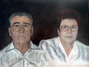 El tío José y su mujer Candelaria..