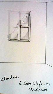 Le coin de la fenêtre.