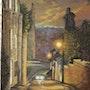 Chauvigny la nuit- La rue des Rempes. Marie-Noëlle Ribardiere