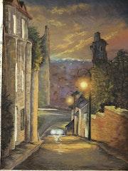 Chauvigny la nuit- La rue des Rempes.