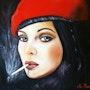 Le beret rouge. Brigitte