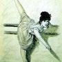 Mónica en clase de ballet.. Leandro Berbegal