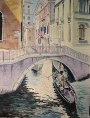 Luz en los canales (Venecia). Bienvenido Garcia Arozamena