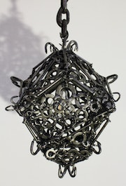 Welding / Contemporary sculpture : Medieval lantern.. Jonathan Pradillon