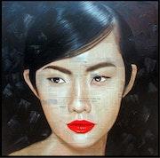 Portrait of a Vietnamese woman.