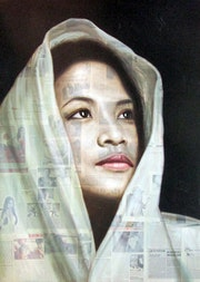 Femme au châle blanc.