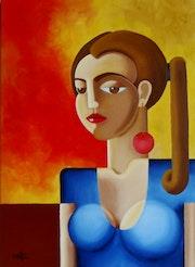 Mulher com brinco vermelho. Karllos Mota
